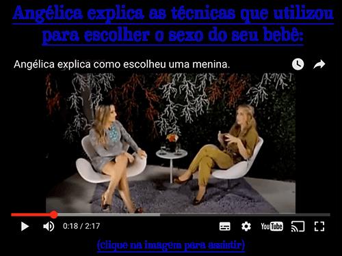 Angélica explica as técnicas que utilizou para escolher o sexo do seu bebê: (clique para assistir)